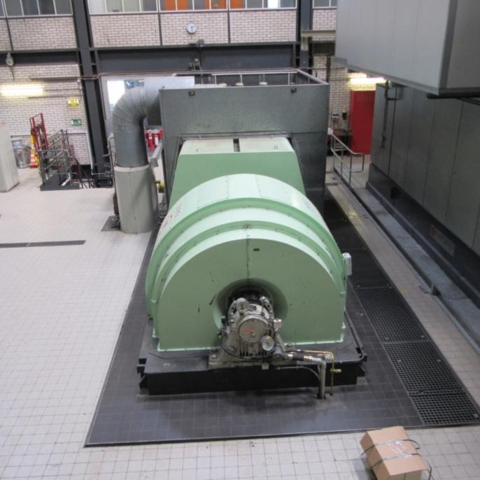 Generator, Getriebe und Dampfturbine Block 50 (Nennleistung: 12,1 MW bzw. 16.440 PS)